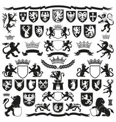 HERALDRY Symbols and Decorative Elements vector image