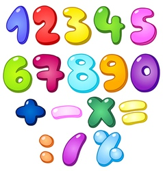 3d bubble numbers vector image vector image
