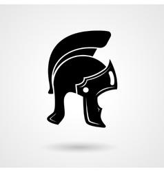 Ancient legionnaire helmet icon logo vector image