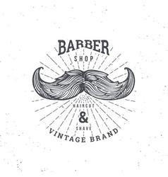 barber shop mustage vector image vector image