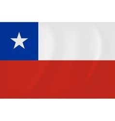 Chile waving flag vector image vector image