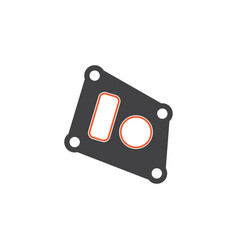 isolated packing flat icon gasket element vector image vector image