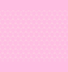 seamless pattern with bunnies on a pink vector image vector image