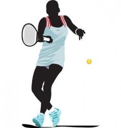 tennis woman vector image vector image