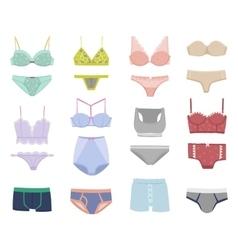 Underwear isolated set vector image