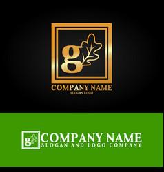 03 oak letter g vector image