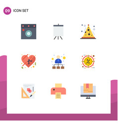 9 user interface flat color pack modern signs vector