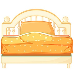 A king sized bed vector image