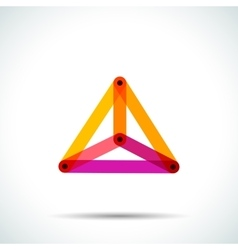 Abstract pyramid logo with intersecting vector image