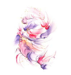 abstract violet pink and red liquid watercolor vector image