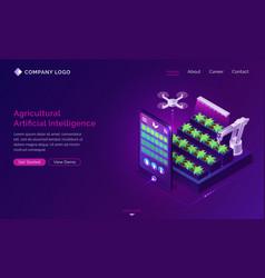 Agricultural artificial intelligence ai farm tech vector