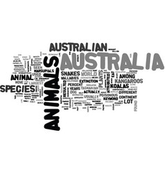 Animals and macair text word cloud concept vector