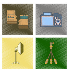 Assembly flat shading style icon photo camera vector
