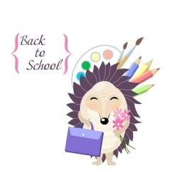 Back to school Stylish card in cute style with vector image