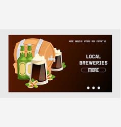 beer in beerhouse brewery web page beermug vector image