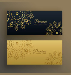 black and gold premium banner decoration in vector image
