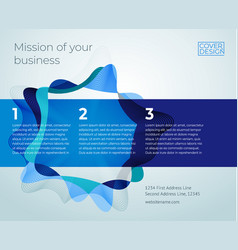 blue abstract business cover design template vector image