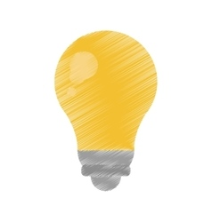 bulb light energy electricity icon ed vector image