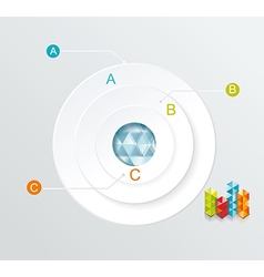 Business Infographics circle style Can be used for vector