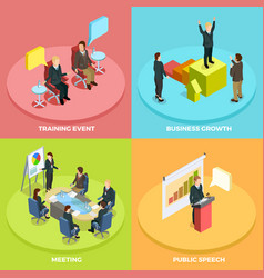 business learning isometric concept vector image