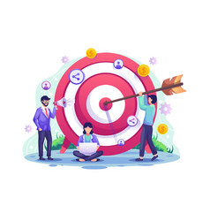 Business target concept referral and affiliate vector