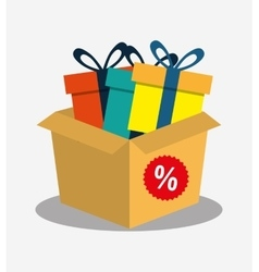 Cardboard box gift boxes discount vector