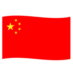 Chinese national flag icon background vector