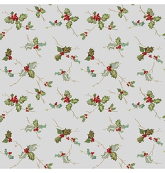 Christmas Seamless Background - Watercolor Style vector