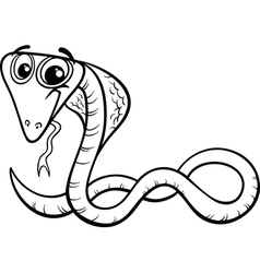 cobra cartoon coloring page vector image