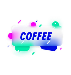 Coffee in design banner template for web vector