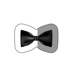 Color sticker bow tie icon vector