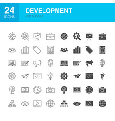 development line web glyph icons vector image