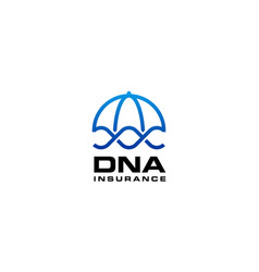 dna insurance logo design template vector image