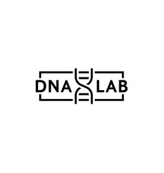 dna test thin line logo vector image