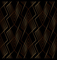 elegant gold line geometric pattern on black vector image