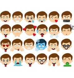 expressions boy cartoon vector image
