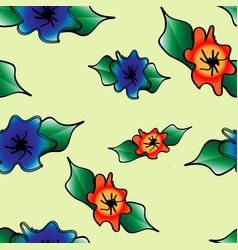 Fantasy flower pattern vector