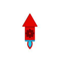 Firecracker rocket of chinese vector