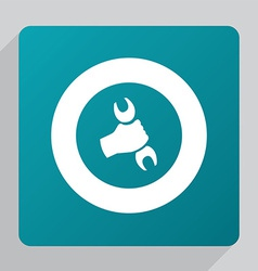 Flat repair icon vector