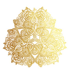 golden tribal mandala vector image vector image