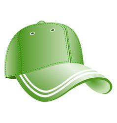 green baseball cap icon vector image