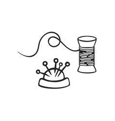 hand drawn icon thread vector image
