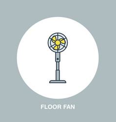 household supply line logo flat sign of floor fan vector image