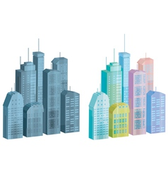 icons of city vector image vector image