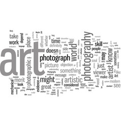 is photography art vector image