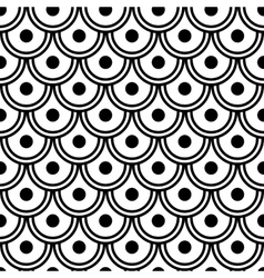 Japanese Wave Seamless Pattern vector image