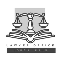 lawyer company logo template isolated icon vector image