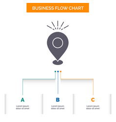 Location pin camping holiday map business flow vector