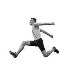 male athlete jumper in triple jump vector image