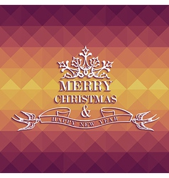 Merry Christmas colorful geometric greeting card vector image